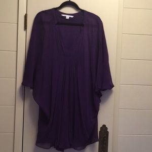 NWOT Diane Von Furstenberg purple dress size 4